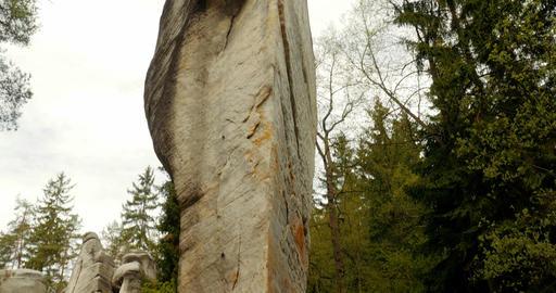 4K, Dolní Adršpach-Teplice Rocks, Czech Republic Footage