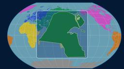 Kuwait (Kavrayskiy VII). Continents Animation