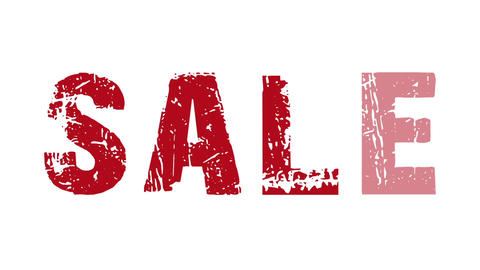 SALE animated text with moving hand and finger 12, Stock Animation