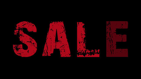 SALE animated text with moving hand and finger 13 Stock Video Footage