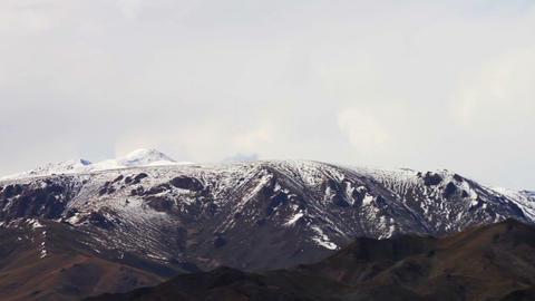 Landscape Of Mountain On Qinghai Plateau,china Footage