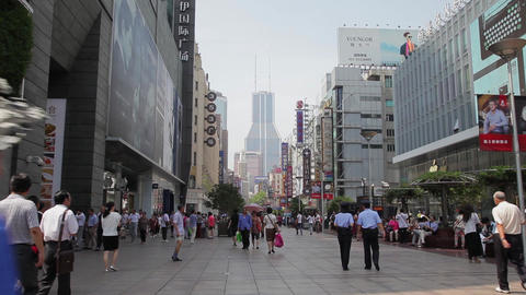 SHANGHAI, CHINA - 10 Sep 2013: Locals and tourists (both domestic and foreign Footage