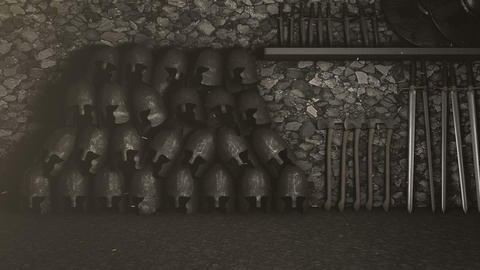 A Medieval Arsenal Packed with Weapons Footage