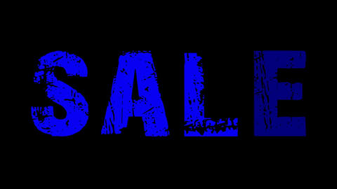 SALE animated text with moving hand and finger 10 Animation