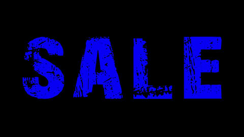 SALE animated text with moving hand and finger 10 Stock Video Footage