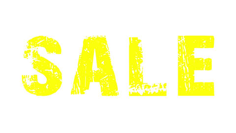 SALE animated text with moving hand and finger 23 Stock Video Footage