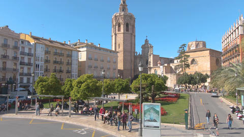 Flying through the streets of Valencia Footage