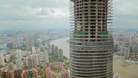 Timelapse of skyscraper Under Construction and cityscape of Shanghai , Shanghai Footage