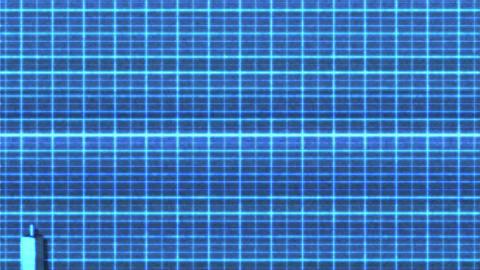 4K Bullish Rectangle Sci-Fi Stock Chart Pattern 2 Animation