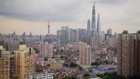 View of Urban scene in Shanghai , Shanghai, China Footage