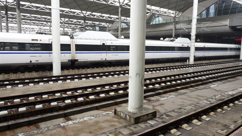 Beijing, China,25 March 2017,High-speed rail in sation,Beijing Live Action