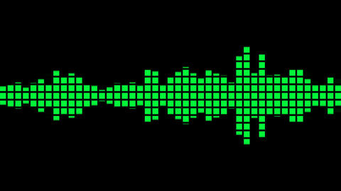 Audio Equalizer seamless animation CG動画
