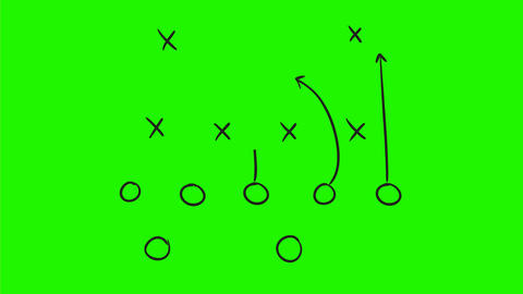 American Football Game Plan Drawing 2D Animation Animation