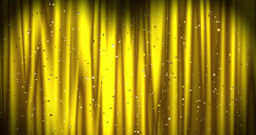 Golden Merry Christmas background with golden stars and color confetti. Walpaper Animation