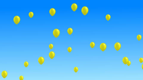 Many colorful balloons flying in the air Animation