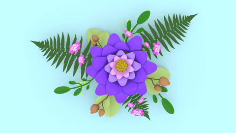 Unfolding Floral Arrangement Animation