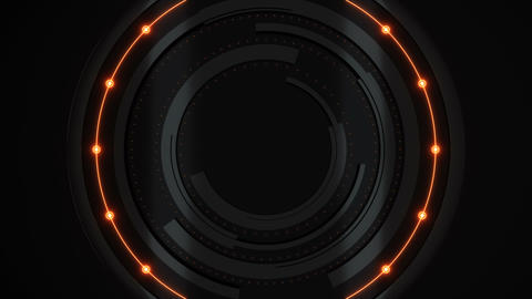 Futuristic broadcast circles animation orange Animation