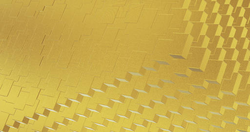 Abstract geometric golden backgroundfoil tiles texture seamless loop background 3D rendering Videos animados