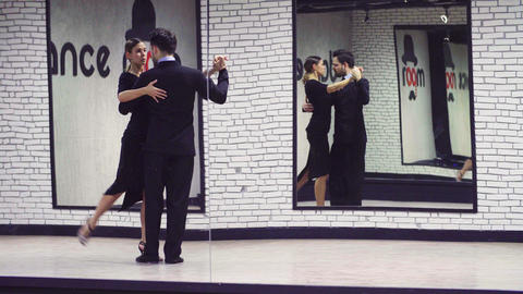 Two dancers dancing tango Footage
