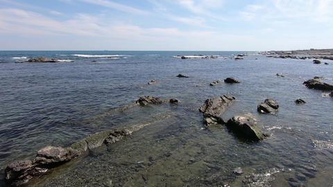 Sunny day, rocks and coast ビデオ