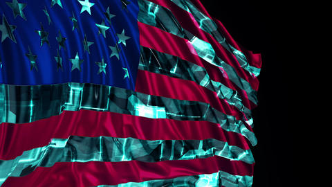 [alt video] American Flag Made in Cyber Style