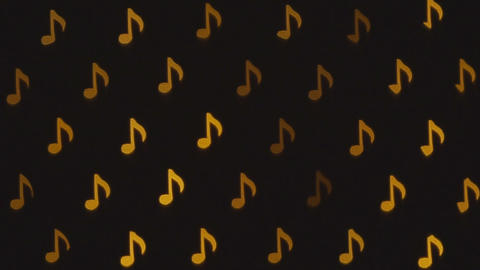 Musical notes. Blinking abstract background Archivo