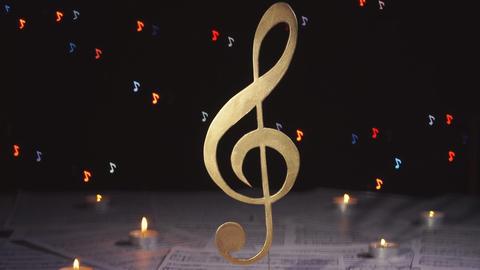 Treble clef. Music note symbol Archivo