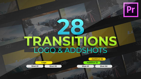 AddShots & Logo Transitions Premiere Proテンプレート