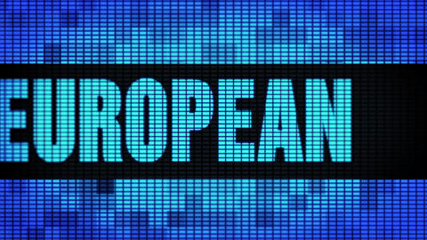 EUROPEAN Front Text Scrolling LED Wall Pannel Display Sign Board Footage