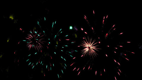 Fireworks. Holiday celebration Live Action