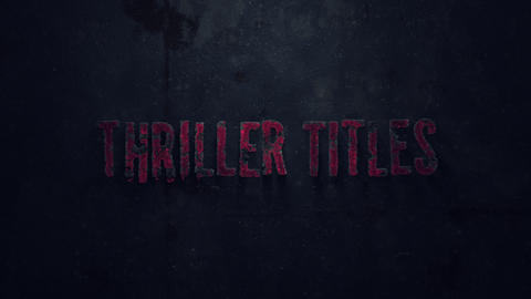 Thriller Titles Motion Graphics Template