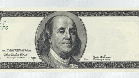 One hundred dollars bill Animation