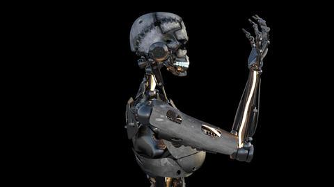 obot, cyborg, terminator, modern technology Stock Video Footage