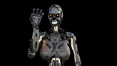 obot, cyborg, terminator, modern technology Animation