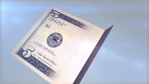 Five dollar banknote Animation