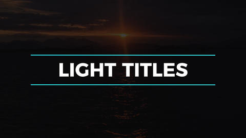 Light Titles & Lower Thirds Motion Graphics Template