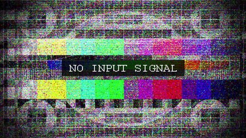 TV distorted signal with labeled Animation
