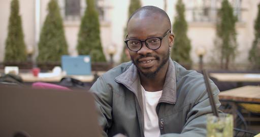 Portrait Afroamerican Student Footage