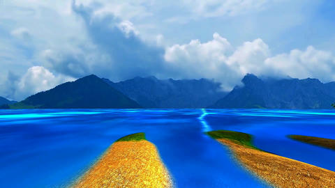 02 landscape of mountains and sea Animation