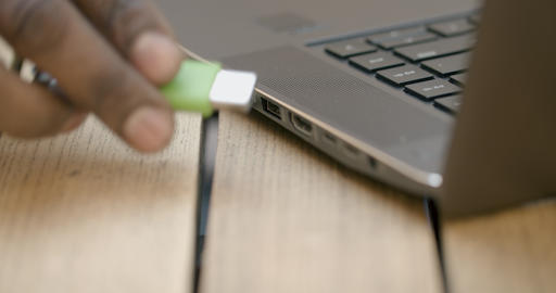Inserting USB Drive Live Action