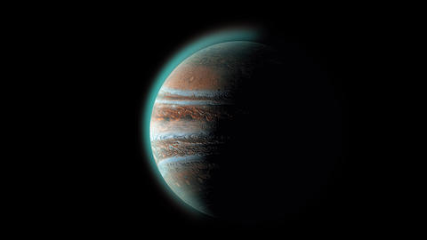 Jupiter planet 3d rendering. Solar system's gas giant,... Stock Video Footage