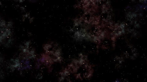 Journey of deep space, cosmos. Stars, Nebula and lights with cosmic, galaxy background. outer space Animation