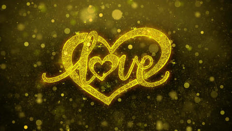 love valentines day heart Wishes Greetings card, Invitation, Celebration Footage