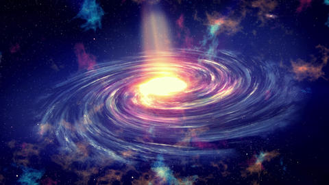 The milky way galaxy 3D animation with planets and zoom in Animation