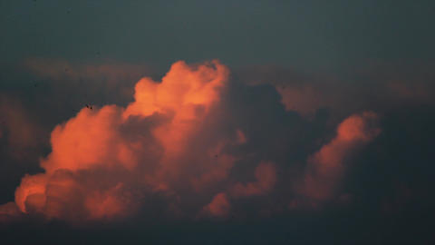 Dramatic afternoon clouds on sky. Sunset time clouds Footage