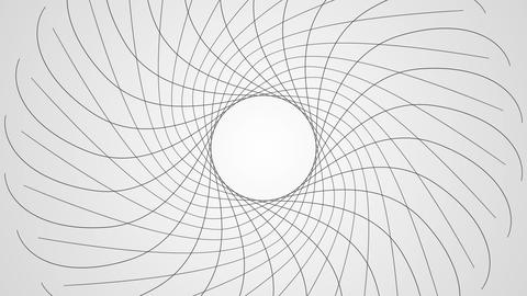 Line Art , monochrome ,Loop _2 CG動画