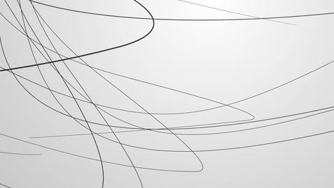 Line Art , monochrome ,Loop _3 CG動画