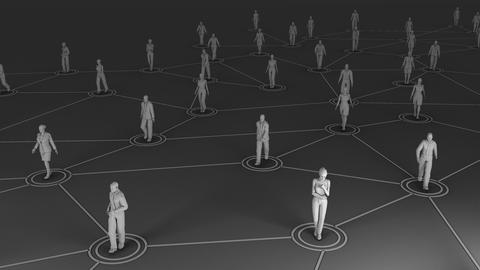 3D rendering with social communication and network Fotografía