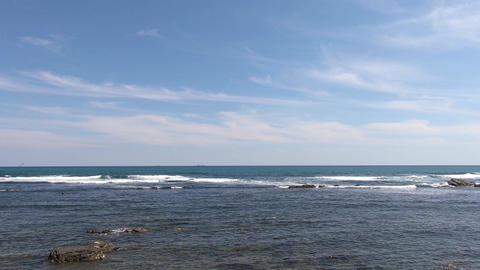 Sunny day sea and clouds ビデオ