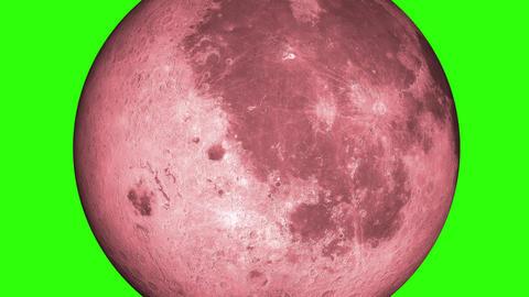 Blood Moon, Luna, Lunar. Red moonlight in green screen.…, Stock Animation